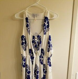 Cute white and blue pattern dress